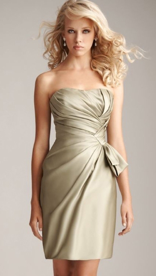 Bridesmaid A Line Dress