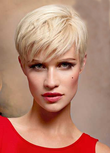 Short Blonde Hairstyle 2014