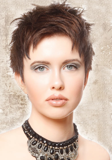 Short Feather Hairstyle