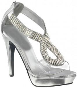 Fancy Silver Wedding Shoes