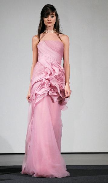 Latest Pink Wedding Dresses