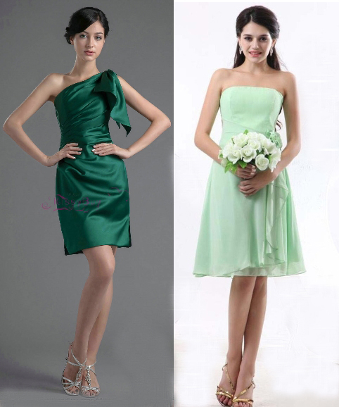 2014 Green Bridesmaid Dress Styles