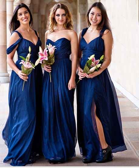 Blue Bridessmaid Dresses