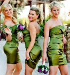 Short Green Bridesmaid Dress Styles for Girls
