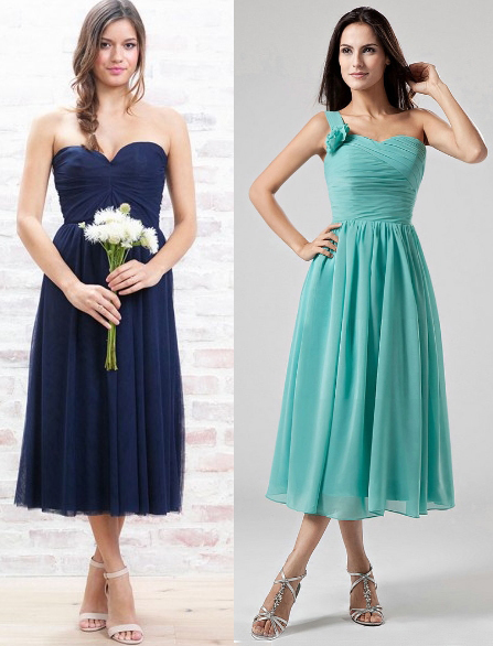 Short- Blue Bridesmaid Dresses