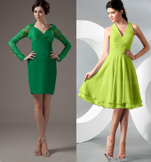 Short Green Bridesmaid Dress Styles
