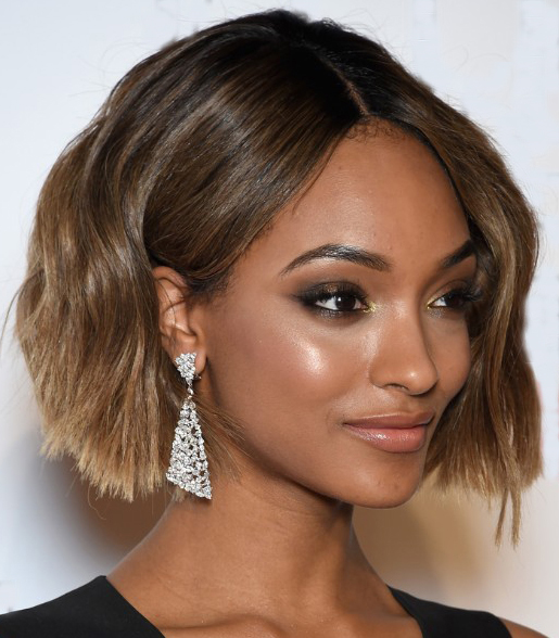 Black Women's Shaggy Ombre Hairstyle