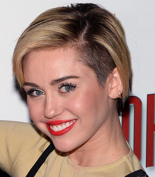 Miley Cyrus Overgrown Undercut Hairstyle