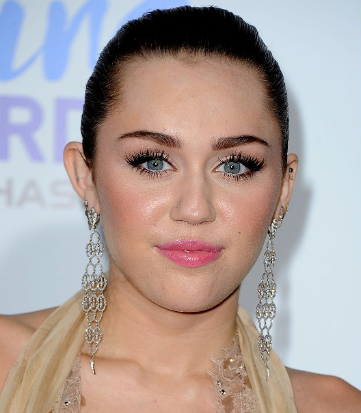 Miley Cyrus Wet Formal Hairstyle