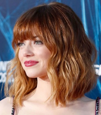 colored Short Wavy Hairstyles 2017