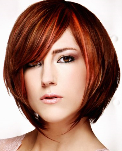 Short Streaked Hairstyle 2014