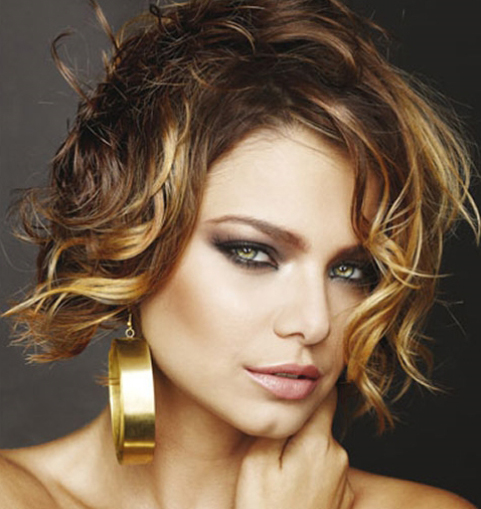 Short Streaked Hairstyle