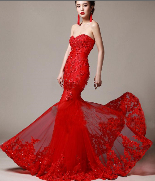 Red Wedding Dress 2014