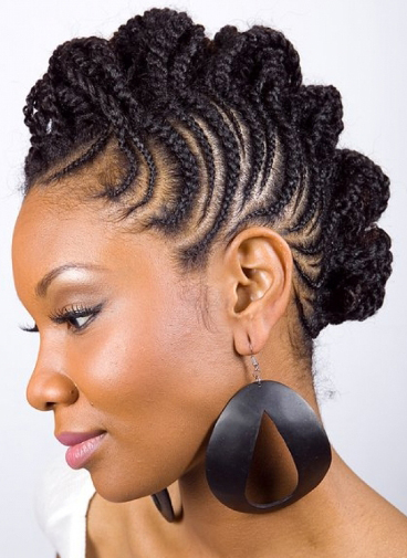 Cornrow African Hairstyle