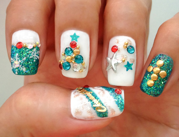 Fancy Christmas Nail Art