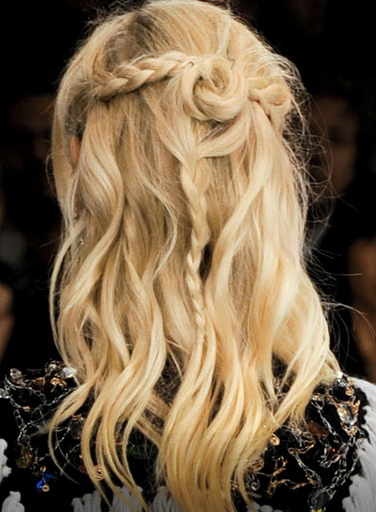 braided Long Blonde Style