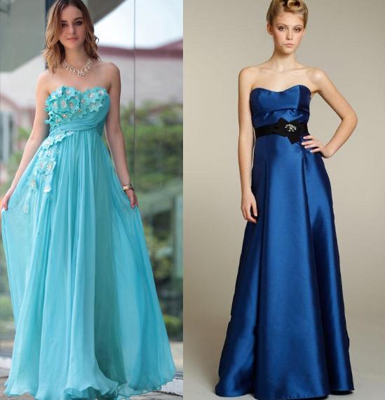 Blue Bridesmaid Dresses 2014