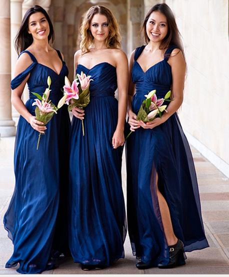 Blue Bridessmaid Dresses