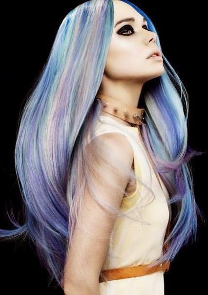 Long Hair Chalk Style Idea