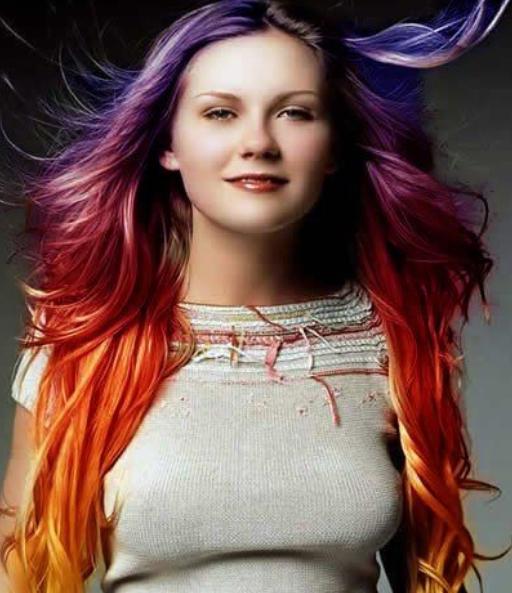 New  Hair Chalk Style Idea