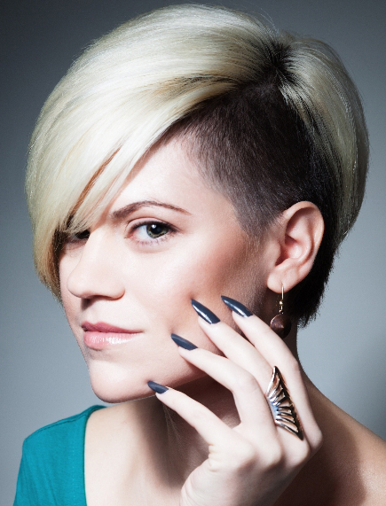 New Women's latest short hairstyle 2015