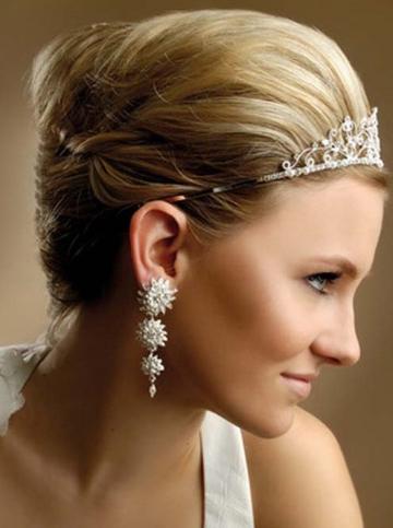 Pinned Short Greek Wedding Hairstyle