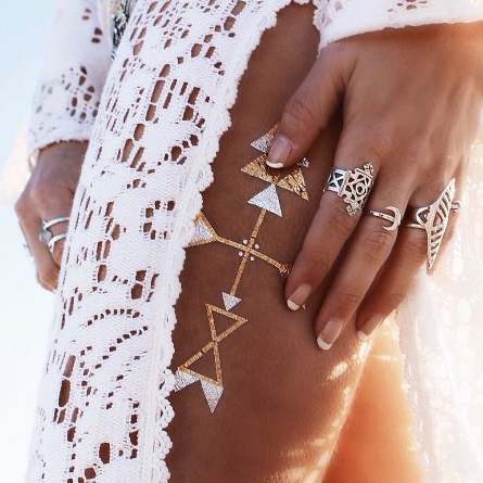 Metallic Tattoo Style and Trend