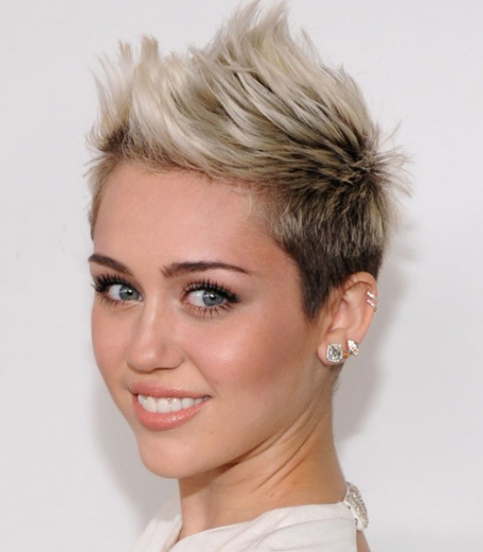 Cropped Miley Cyrus Hairstyles