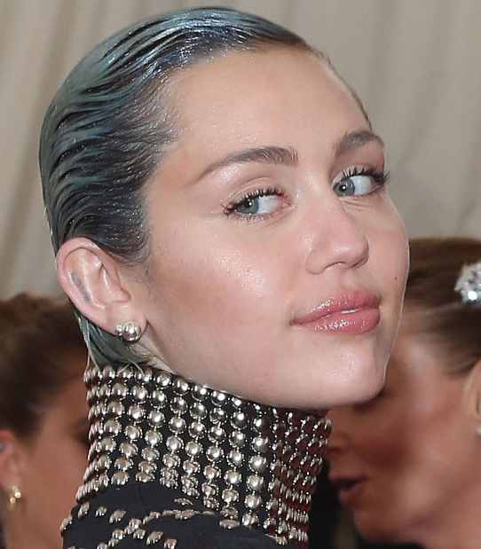 Gelled Miley Cyrus Hairstyles