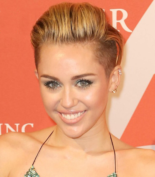 Miley Cyrus Back Combed Hairstyles