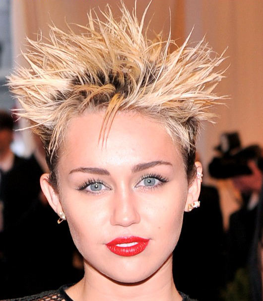 Miley Cyrus Spiky Hairstyles