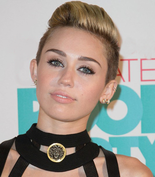 Side Shaved Miley Cyrus Hairstyle